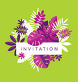 vibrant bright simple tropical leaves vector image vector image