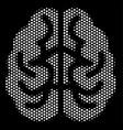 white dot brain icon vector image