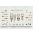 Set of arrows dream catchers Indian elements vector image