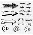 hand drawn arrows icons set vector image