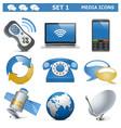 Media Icons Set 1 vector image