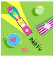 poster backyard party vector image