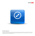 2 side arrow icon - 3d blue button vector image