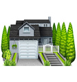 An elegant house vector image vector image