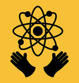 atomic icon vector image