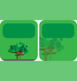 banners with a tree house vector image