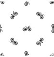 bicycle pattern seamless black vector image vector image