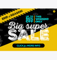 big super sale banner design vector image vector image