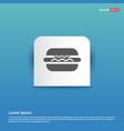 burger icon - blue sticker button vector image