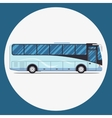 bus sity transportation set Modern flat design vector image vector image