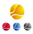 business icon set logo vector image
