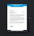 business letterhead template design vector image vector image