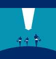 business team running concept business vector image vector image