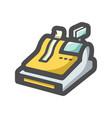 cashbox cash machine icon cartoon vector image vector image