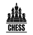 chess game logo simple style vector image vector image