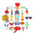 cinema icons set cartoon style vector image vector image
