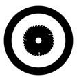 circular disk icon black color in round circle vector image vector image