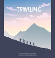 climbing mountains vector image