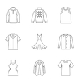 Clothing for body icons set outline style vector image vector image