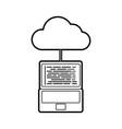 cloud computing laptop programming code storage vector image vector image