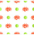 crab and lime seamless pattern vector image