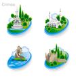 Crimea Tourism Pict 3rd vector image vector image