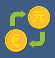 Currency exchange Euro and Yuan vector image