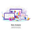 data analysis software for mobile devices and vector image vector image