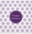 flower pattern background and texture vector image