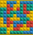 game tetris pixel bricks seamless pattern vector image vector image