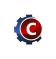 gear icon letter c vector image