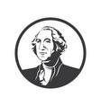 george washington logo vector image vector image