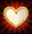 golden glitter heart frame vector image vector image