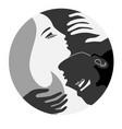 he and she unity emblem yin and yang vector image vector image