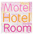 Hotel Where Does The Name Come From text vector image vector image