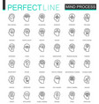 human mind identity features thin line web icons vector image vector image