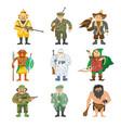 hunters cartoon style vector image