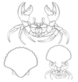 Image with shell crab claws in isolated objects vector image