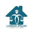 law house logo design property law logo vector image vector image