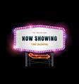light sign billboard cinema theater vector image vector image