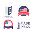 made in usa sticker collection vector image