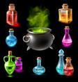 magic hebenon vial collection vector image