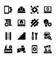 manufacture engineer production icons vector image vector image