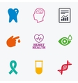 Medicine medical health and diagnosis icons vector image vector image