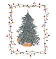 merry christmas tree with present boxes in xmas vector image vector image