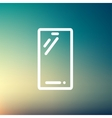 Mobile phone thin line icon vector image