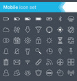 mobile phones icons isolated on dark background vector image vector image