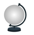 mockup stand for earth globe isolated on white vector image vector image