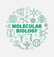 molecular biology round vector image
