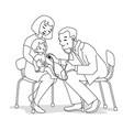 mother child and doctor vector image